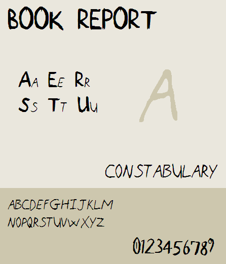 Image for Book Report NBP font