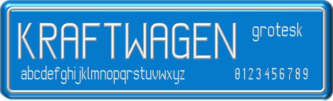 Image for Kraftwagen-Grotesk NBP font