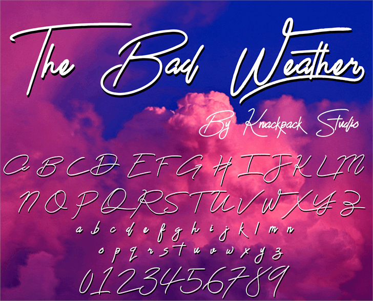 The Bad Weather Demo font by knackpackstudio