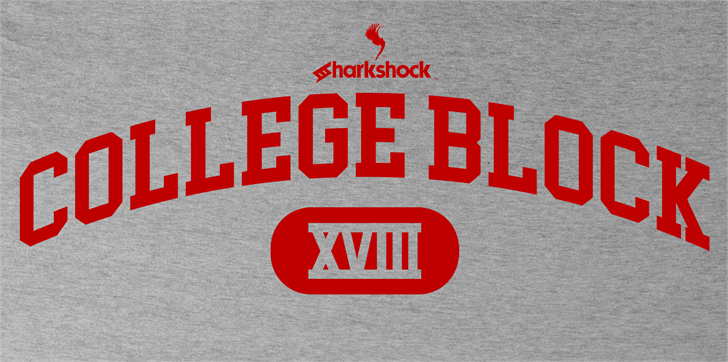 College Block font by sharkshock