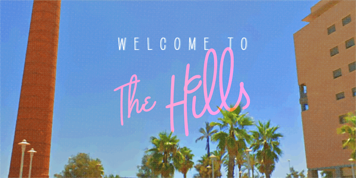 Image for The Hills PERSONAL USE ONLY font