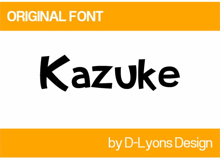 Image for Kazuke font