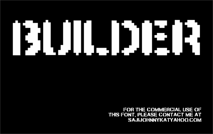 BUILDER font by SAJI JOHNNY KUNDUKULAM