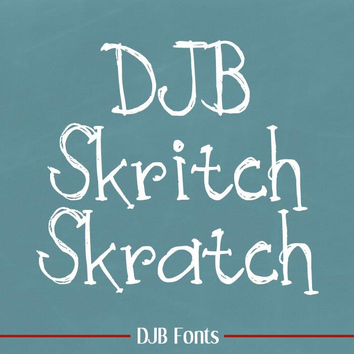 Image for DJB Skritch Skratch font