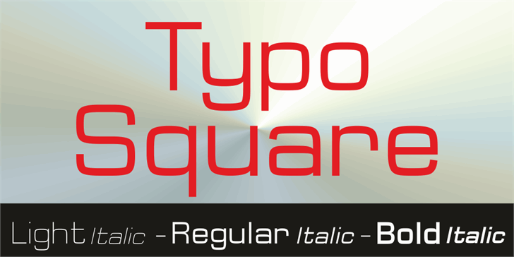 Image for Typo Square Bold Demo font