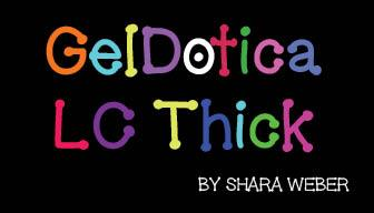 Image for GelDoticalowercasethick font