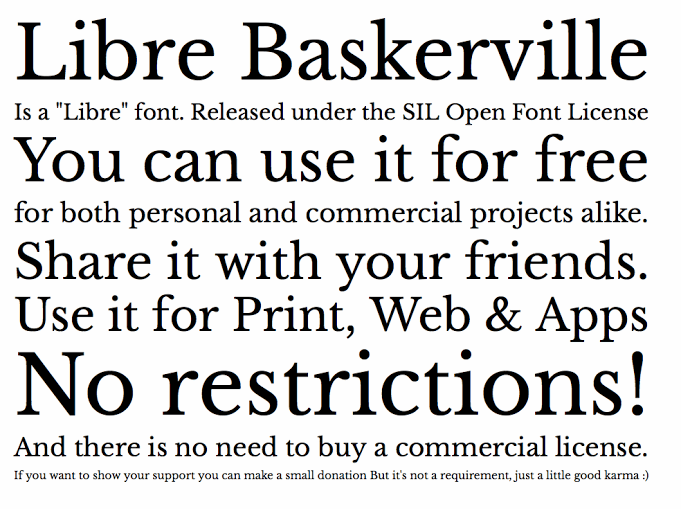 Image for Libre Baskerville font