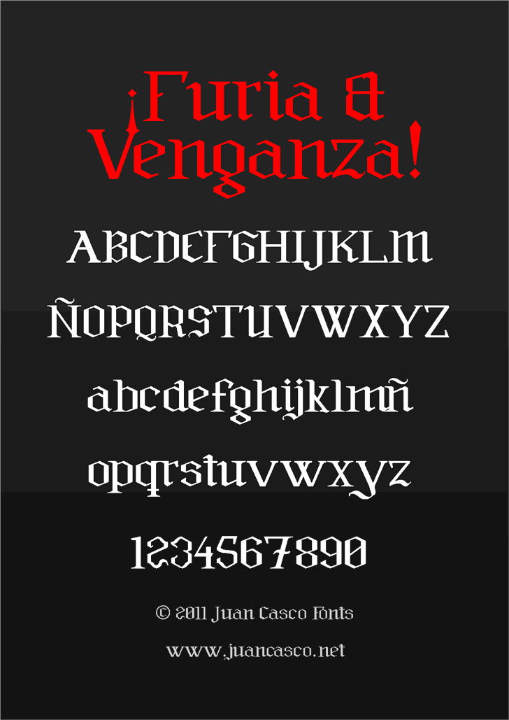 Image for Furia & Venganza font