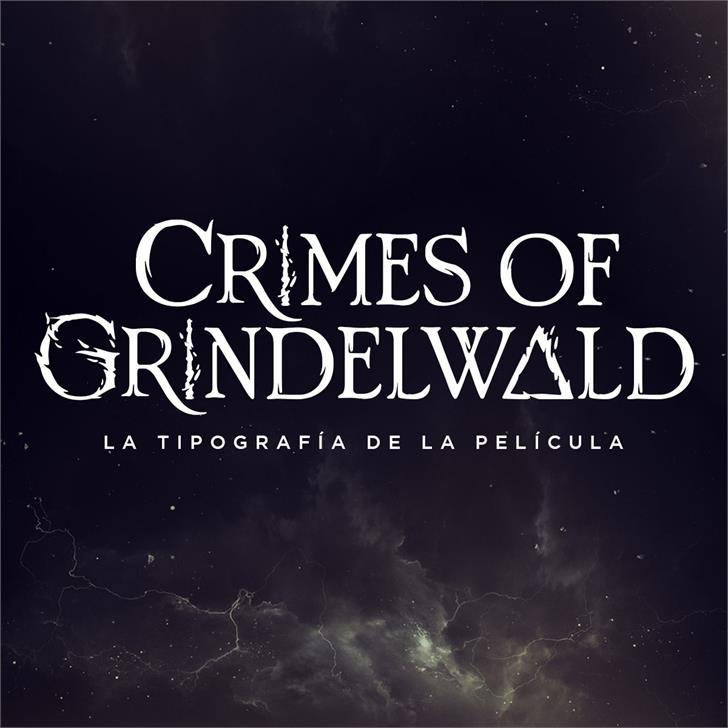 Image for Crimes of Grindelwald font