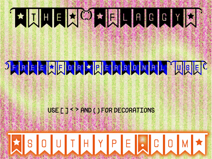 Image for The Flaggy St font
