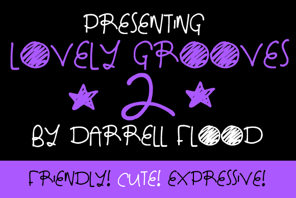 Lovely Grooves 2 font by Darrell Flood
