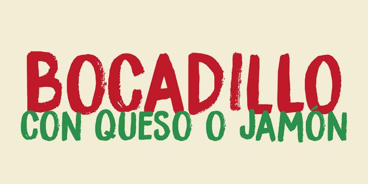 DK Bocadillo font by David Kerkhoff
