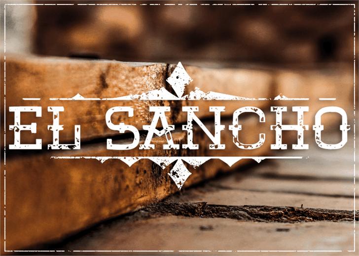 El Sancho font by Font Monger