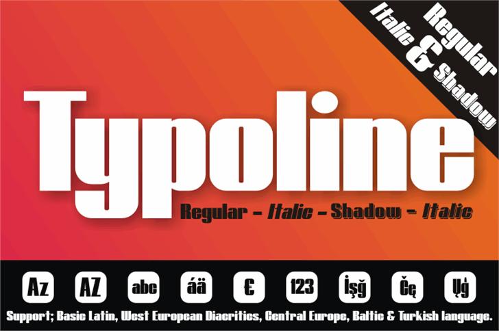 Typoline font by studiotypo