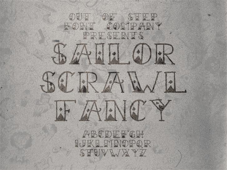 Image for Sailor Scrawl Fancy font