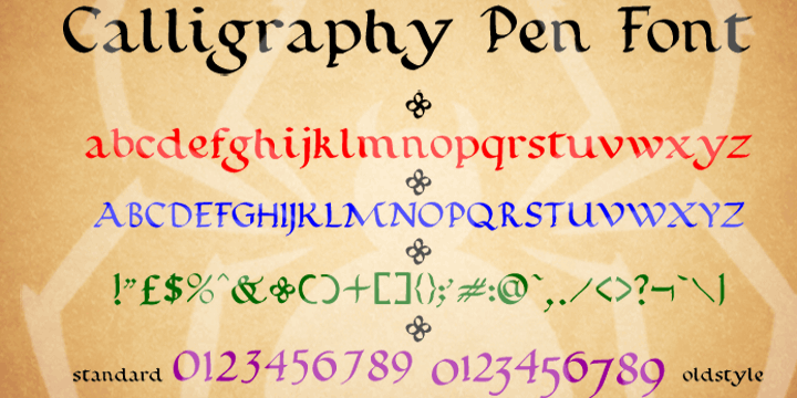 Calligraphy Pen font by SpideRaYsfoNtS