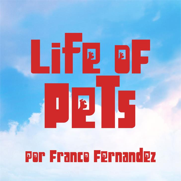 Image for Life of Pets font