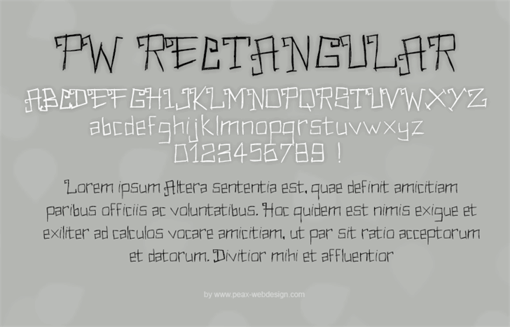 PWRectangular font by Peax Webdesign