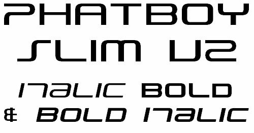 Image for PhatBoy Slim font