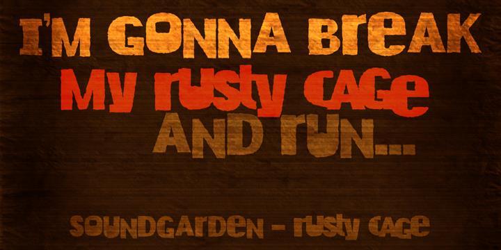 DK Rusty Cage font by David Kerkhoff