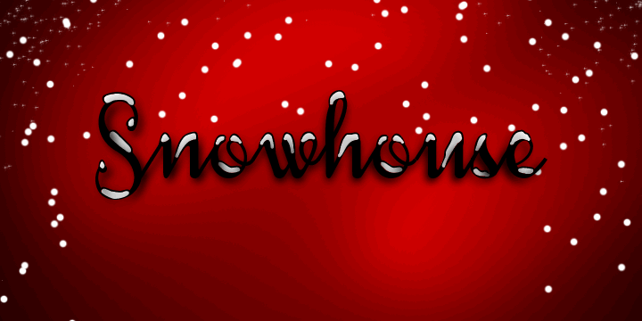 Image for Snowhouse DEMO font