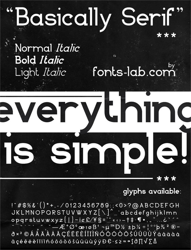 Basically Serif_FREE-version font by FontsCafe