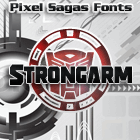 Strongarm font by Pixel Sagas