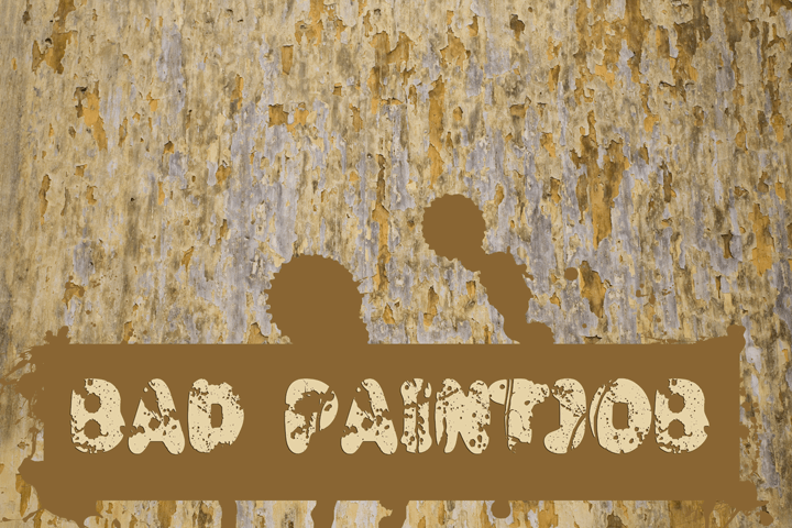 Image for Bad Paintjob font
