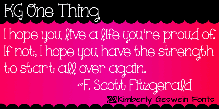 Image for KG One Thing font