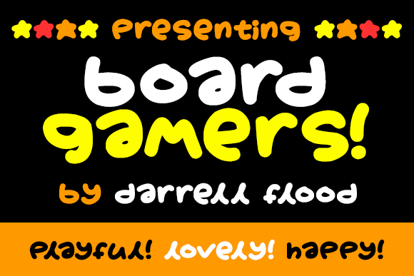 Boardgamers font by Darrell Flood