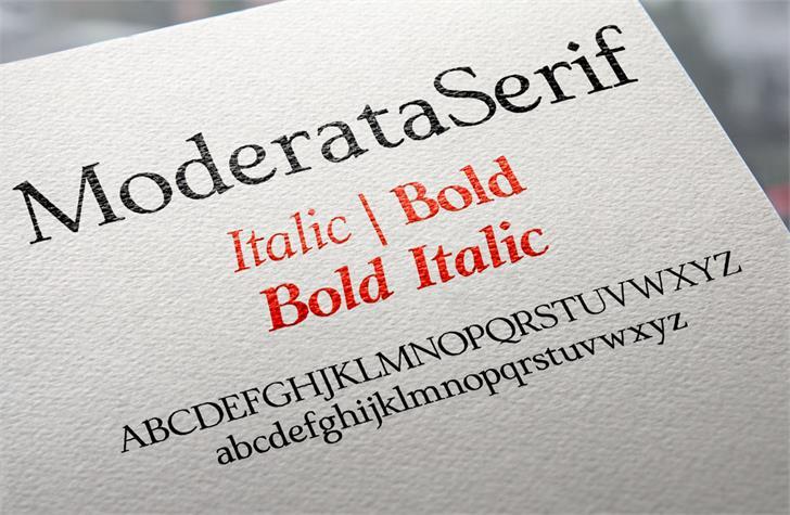Image for ModerataSerif font