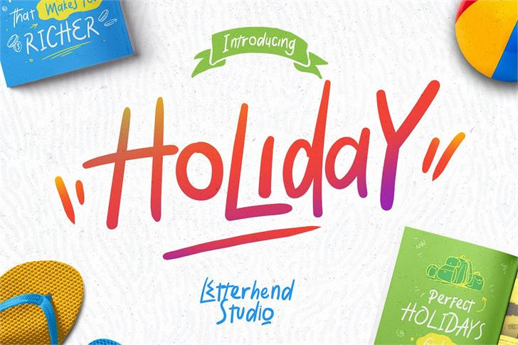 Holiday font by Letterhend Studio