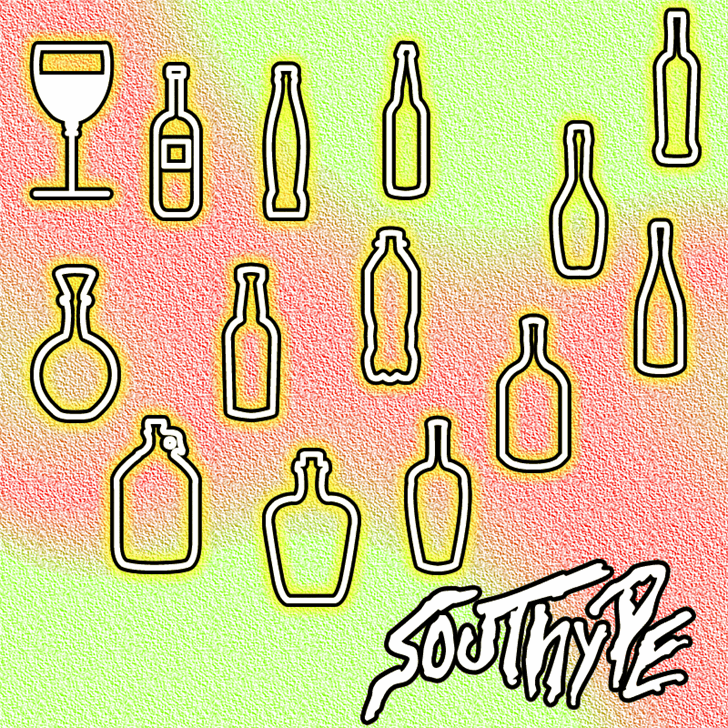 Glass and bottles St font by Southype