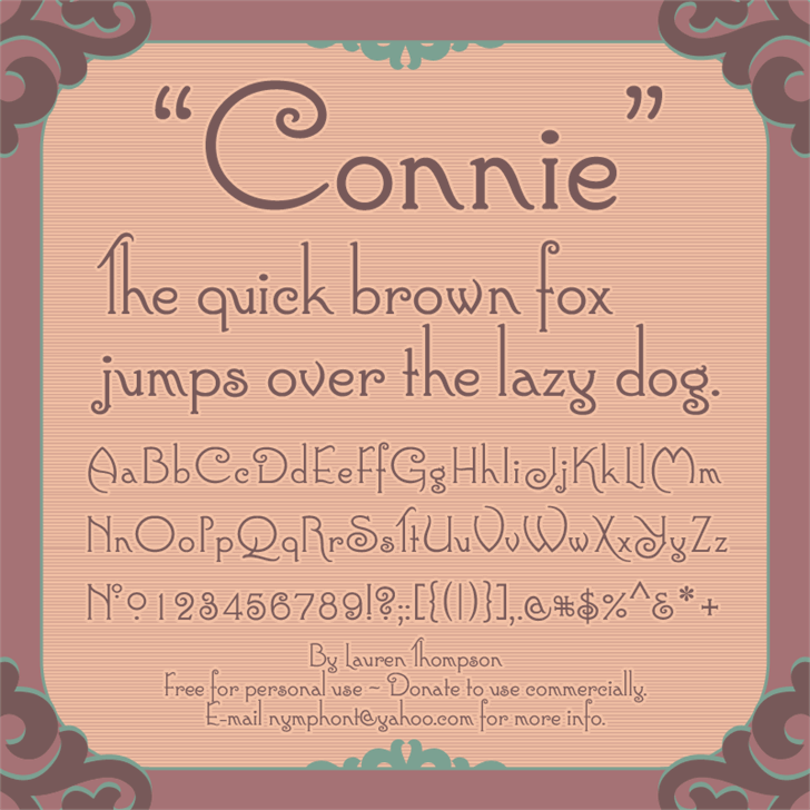 Image for Connie font