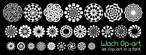Image for Wach Op-Art font