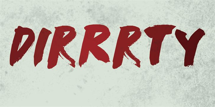 Image for DK Dirrrty font