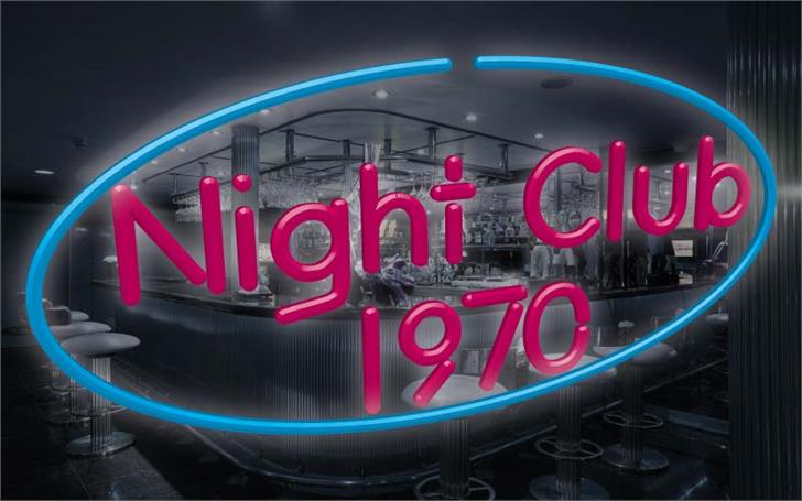 Image for Night Club 70s font