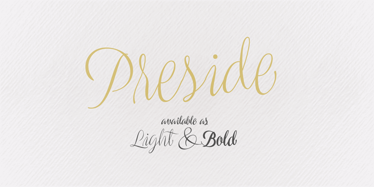Image for Preside PERSONAL USE ONLY font