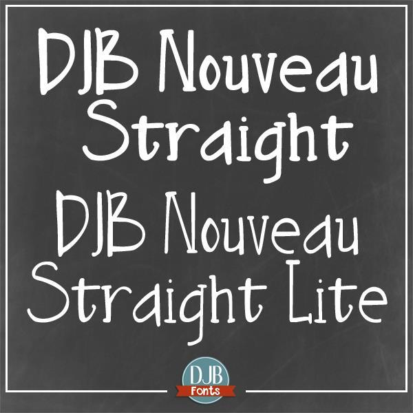 DJB Nouveau Straight font by Darcy Baldwin Fonts