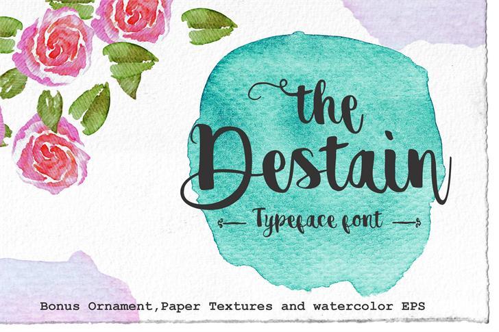 Image for destain alternative font