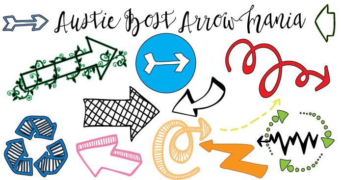 Image for Austie Bost Arrow Mania font