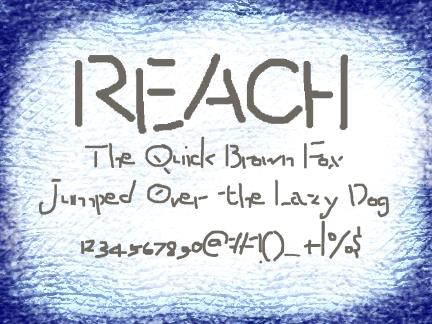 Image for Reach font