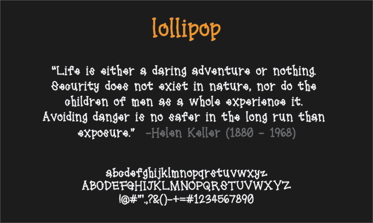 Image for lollipop font