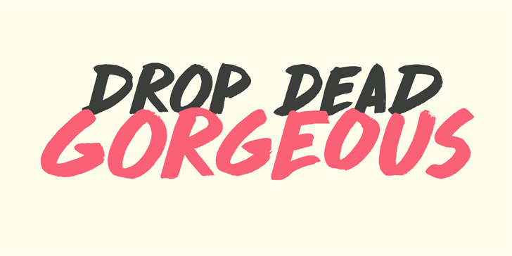 DK Drop Dead Gorgeous font by David Kerkhoff