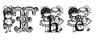 KG CUTIE1 font by Katz Fontz