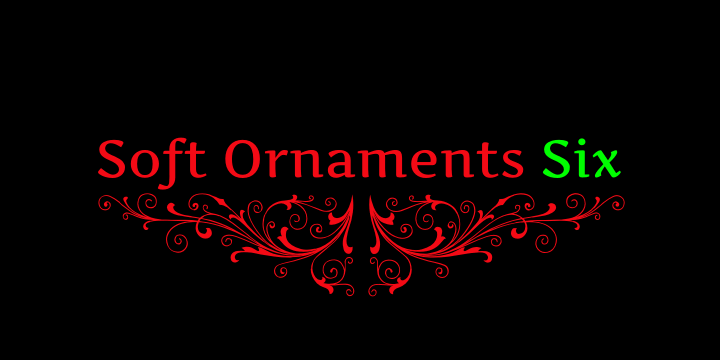 Soft Ornaments Six font by Intellecta Design