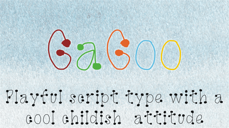 Image for GaGoo font