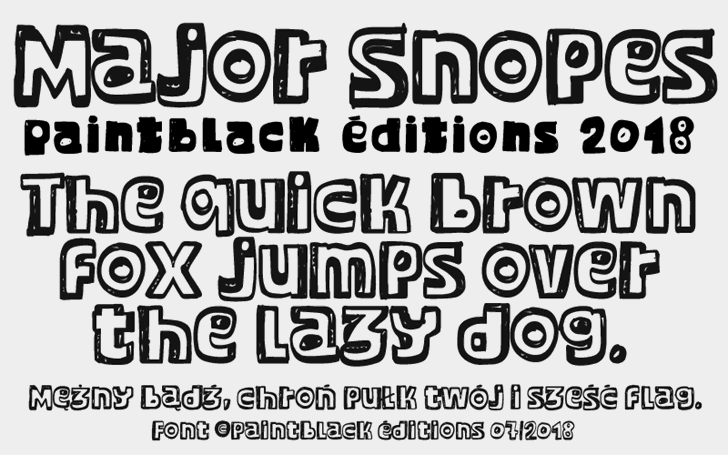 Major Snopes font by paintblack éditions
