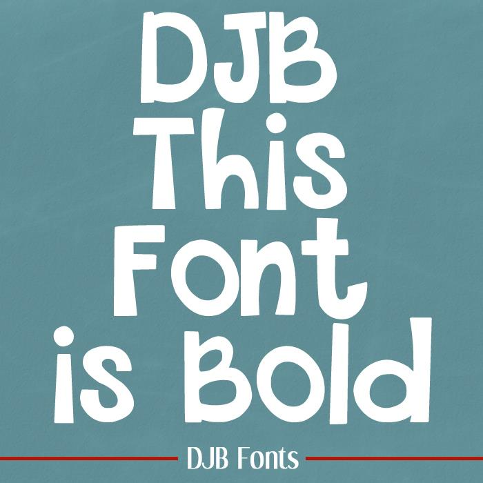 THIS FONT IS BOLD font by Darcy Baldwin Fonts