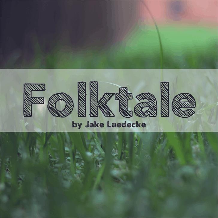 Image for Folktale font